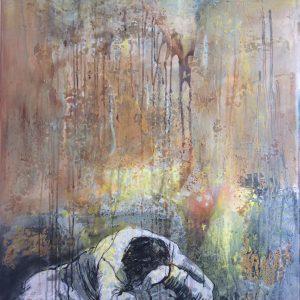 Albträumer ,Acryl auf Leinwand,100x80, 2017