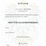 Dr. Steiner Allgmein arzt Urkunde