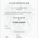 Dr. Steiner Facharzt Urkunde